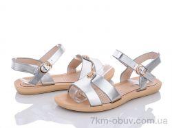 купить Summer shoes A558 silver оптом